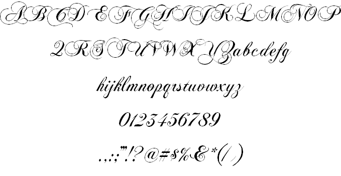 Download Chopin Script font (typeface)