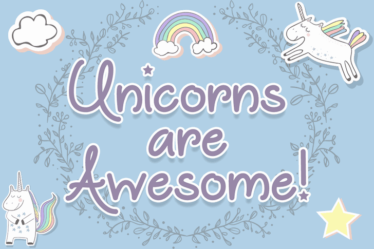 Download Unicorns are Awesome font (typeface)
