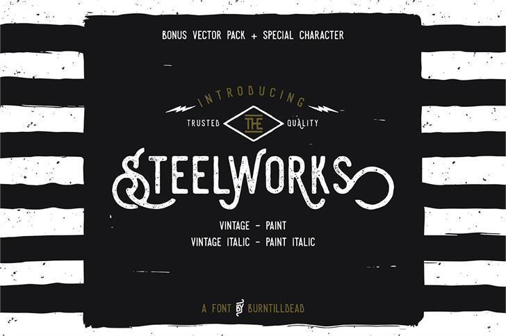 Download Steelworks Vintage font (typeface)