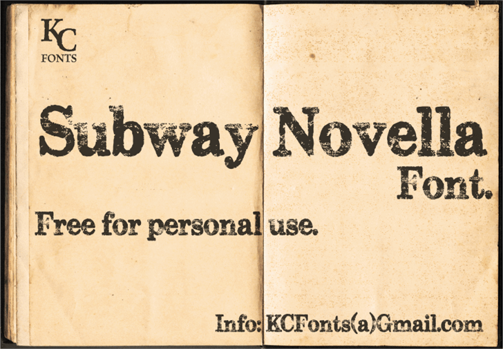 Download Subway Novella font (typeface)