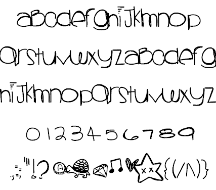 Download Sprinkles colors font (typeface)