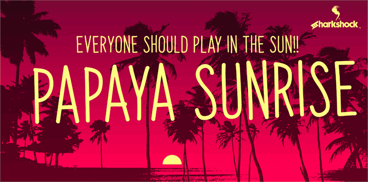 Download Papaya Sunrise font (typeface)