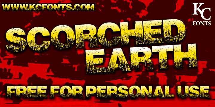 Download Scorched Earth font (typeface)
