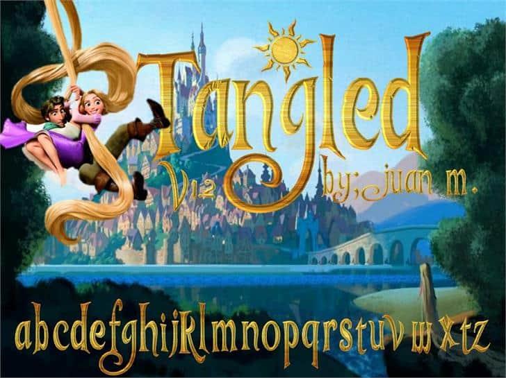 Download Tangled v1.2 font (typeface)