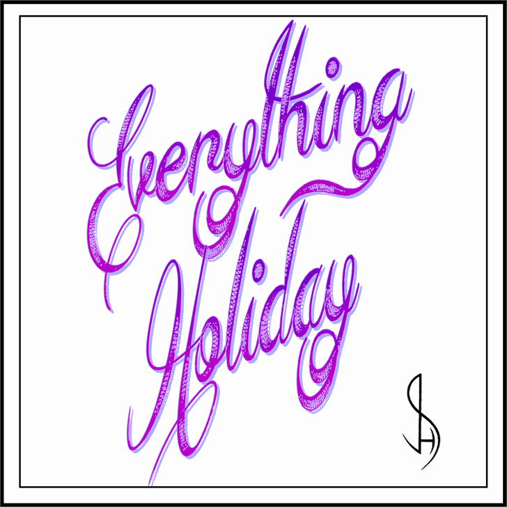 Download Everything Holiday font (typeface)