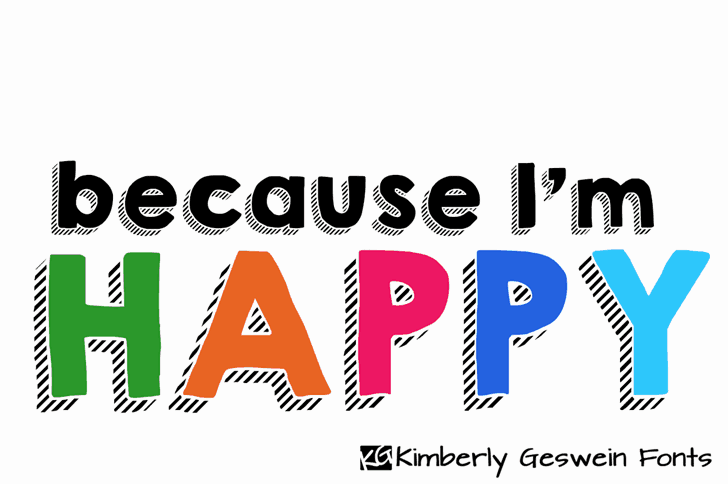 Download KG HAPPY font (typeface)