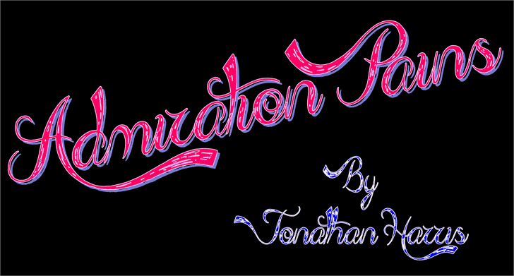 Download Admiration Pains font (typeface)