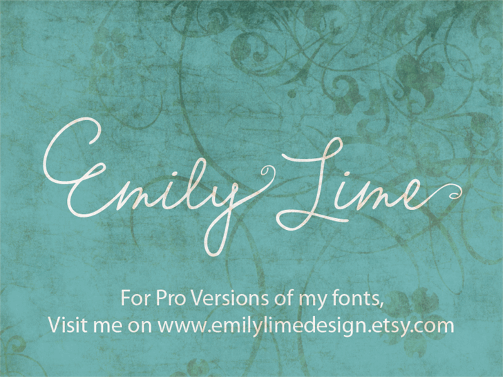 Download Emily Lime Words font (typeface)