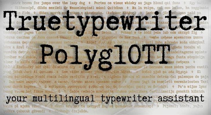 Download Truetypewriter PolyglOTT font (typeface)