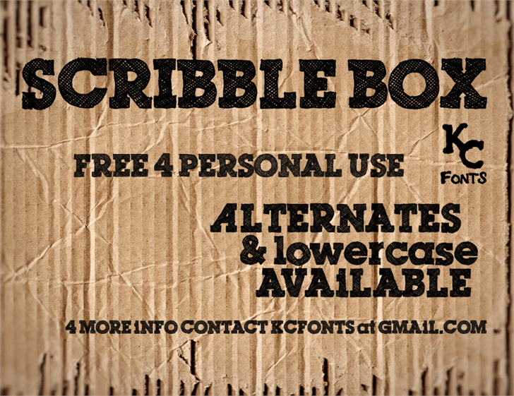 Download Scribble Box font (typeface)