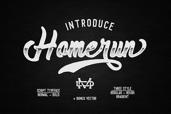 Download Homerun font (typeface)
