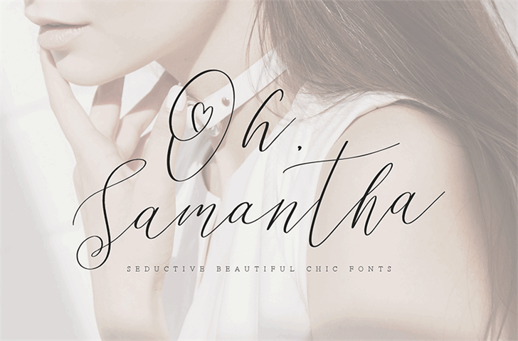 Download Oh Samantha font (typeface)