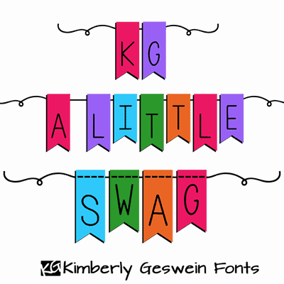 Download KG A Little Swag font (typeface)
