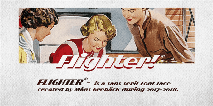 Download Flighter font (typeface)