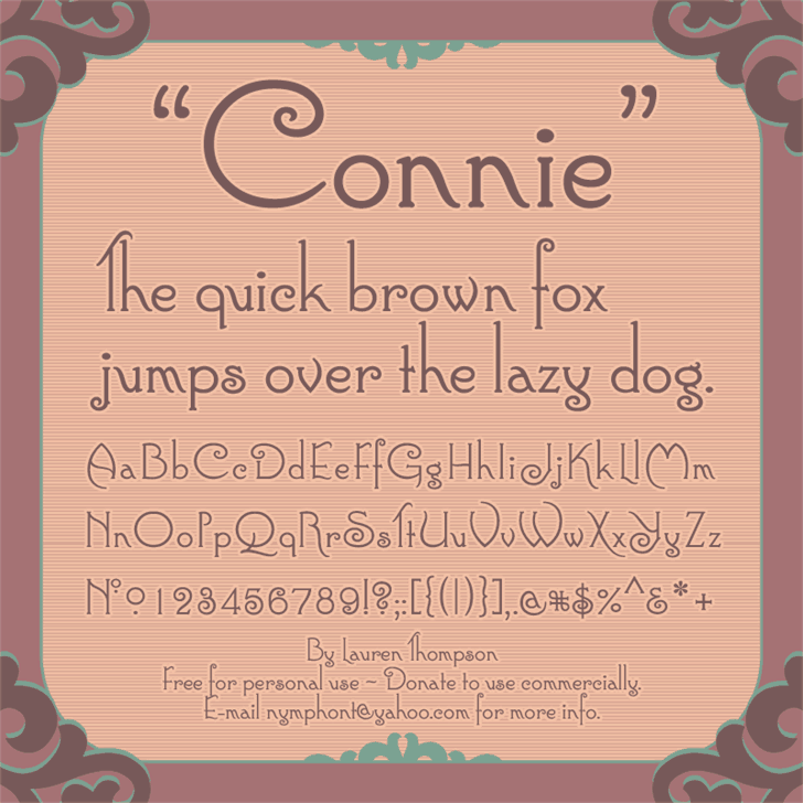 Download Connie font (typeface)