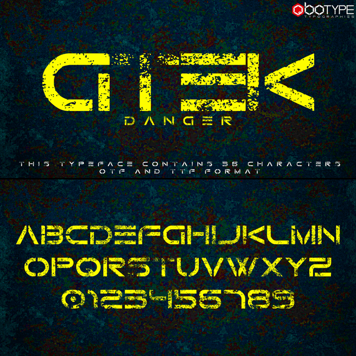 Download Gtek Technology font (typeface)