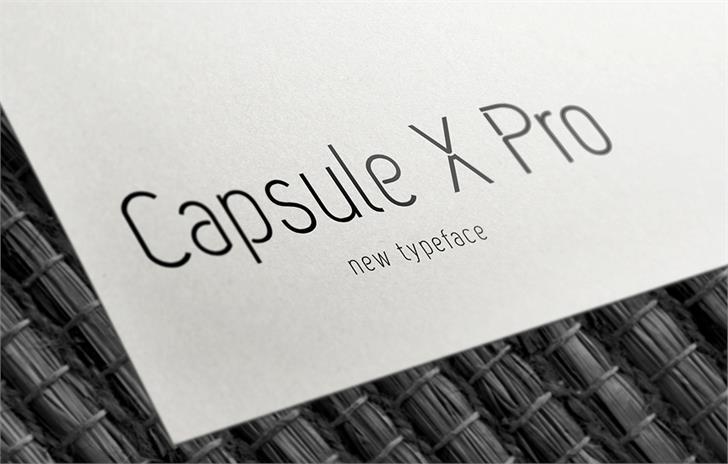Download Capsule X Pro Medium font (typeface)
