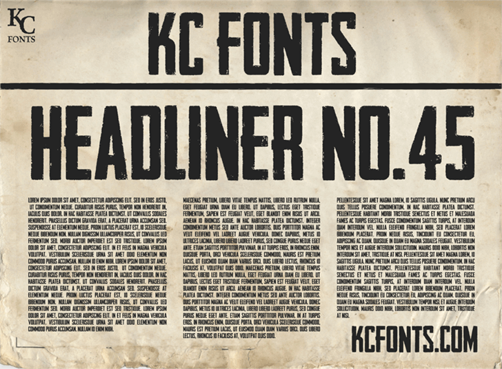 Download Headliner No. 45 font (typeface)