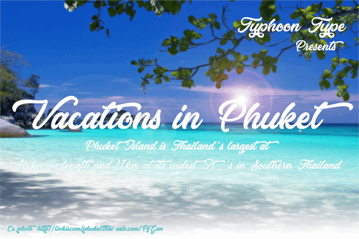 Download Vacations in Phuket font (typeface)