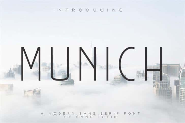Download MUNICH font (typeface)