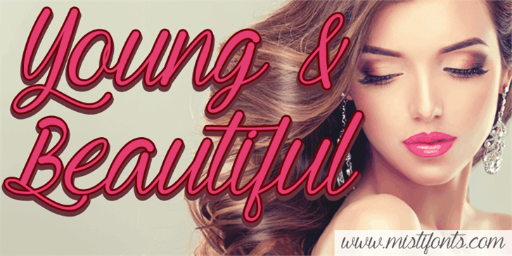 Download Young & Beautiful font (typeface)