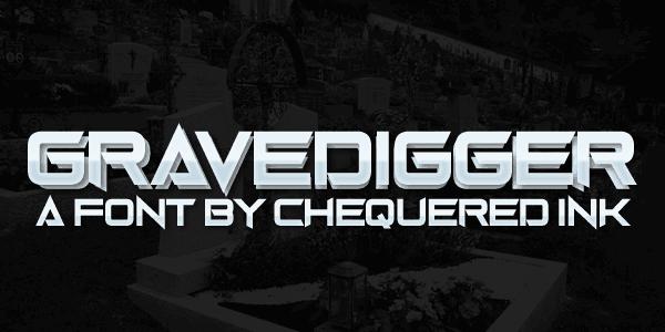 Download Gravedigger font (typeface)