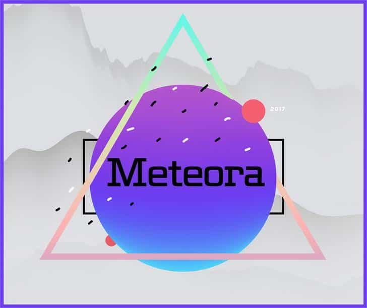 Download Meteora font (typeface)