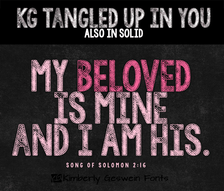 Download KG Tangled Up In You font (typeface)