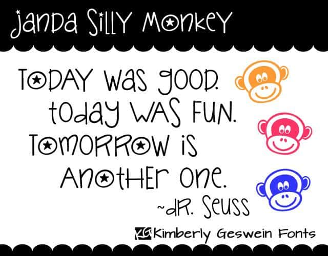 Download Janda Silly Monkey font (typeface)