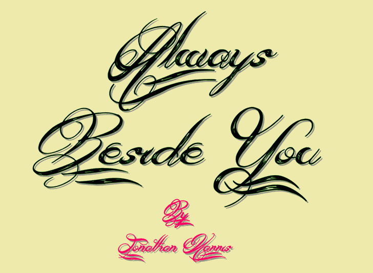 Download Always Beside You font (typeface)