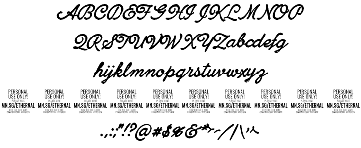 Download Ethernal Bold font (typeface)