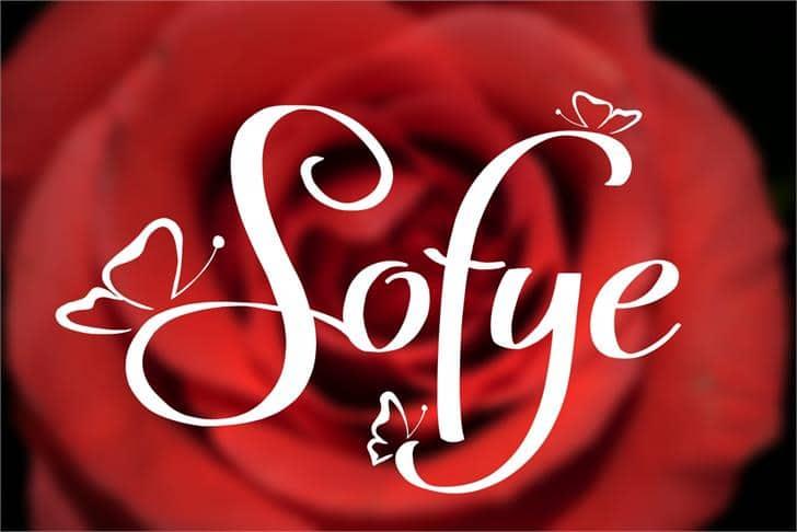 Download Sofye font (typeface)