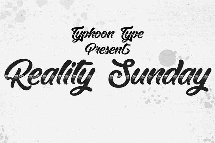 Download Reality Sunday font (typeface)