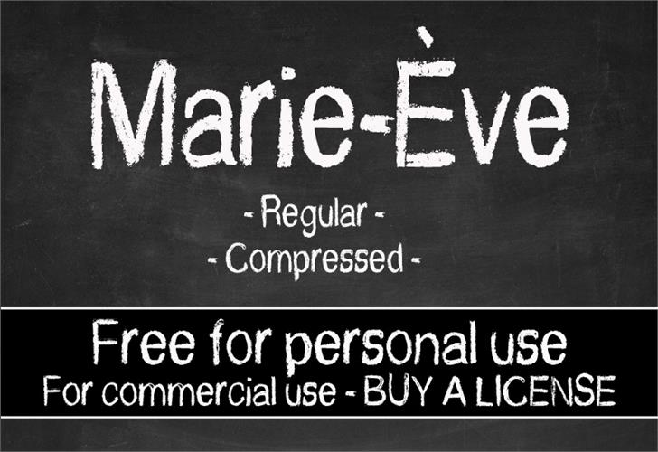 Download CF Marie Eve font (typeface)