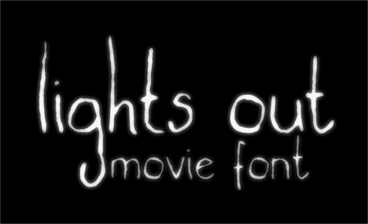 Download Lights out font (typeface)