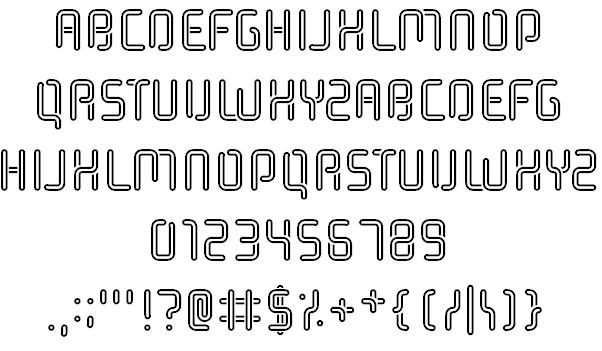 Download Halogen Gas Lights font (typeface)