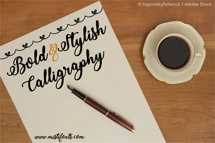 Download Bold Stylish Calligraphy font (typeface)