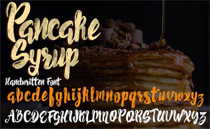 Download Pancake Syrup Textured font (typeface)