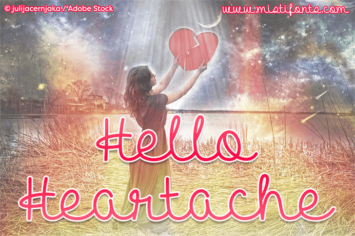 Download Hello Heartache font (typeface)