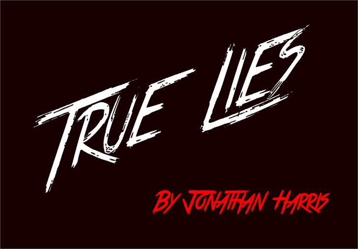 Download True Lies font (typeface)