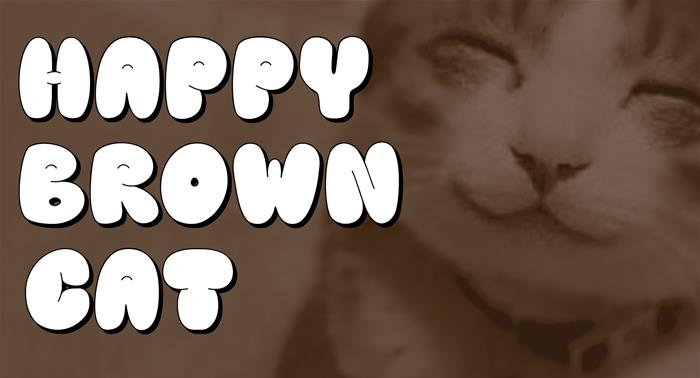 Download Happy brown cat font (typeface)