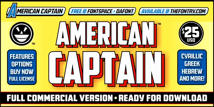 Download American Captain Patrius 02 font (typeface)