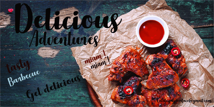 Download Delicious Adventures font (typeface)