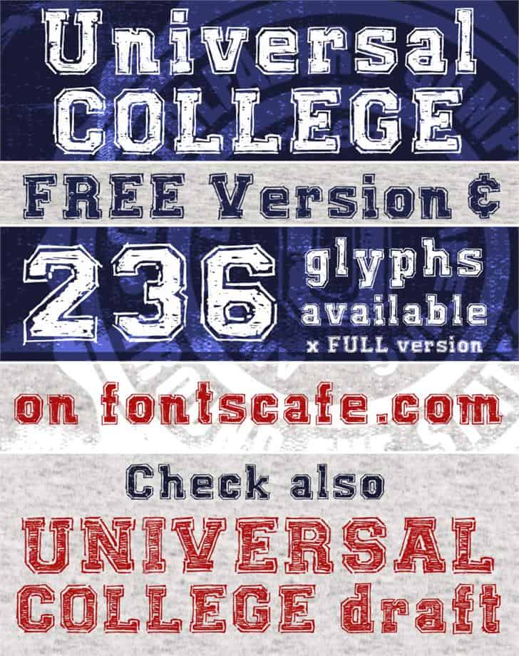Download UNIVERSAL COLLEGE font (typeface)