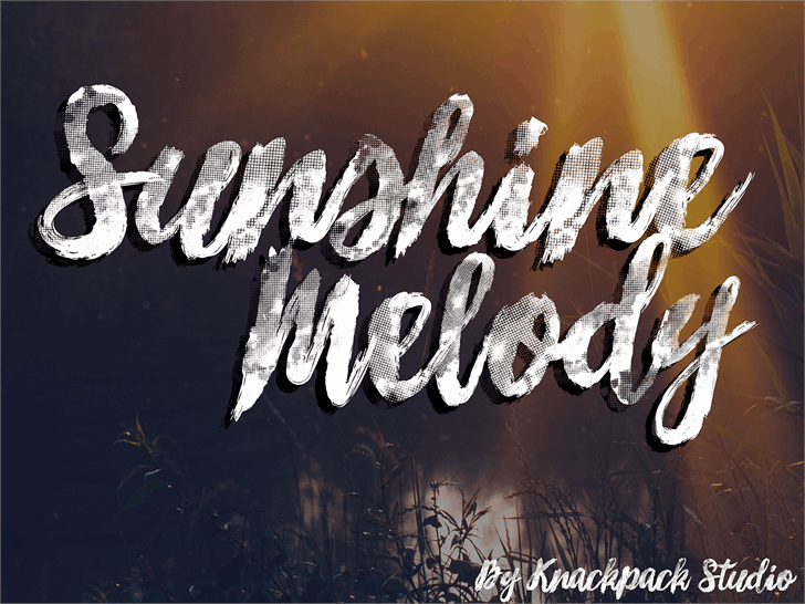 Download Sunshine Melody font (typeface)