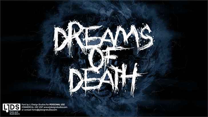 Download Dreams of Death font (typeface)