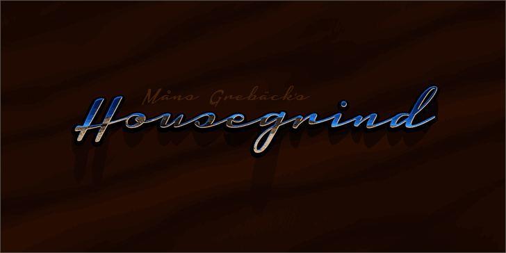 Download Housegrind font (typeface)
