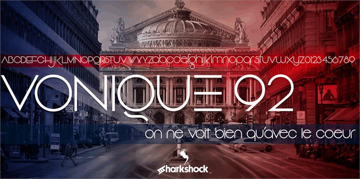 Download Vonique 92 font (typeface)