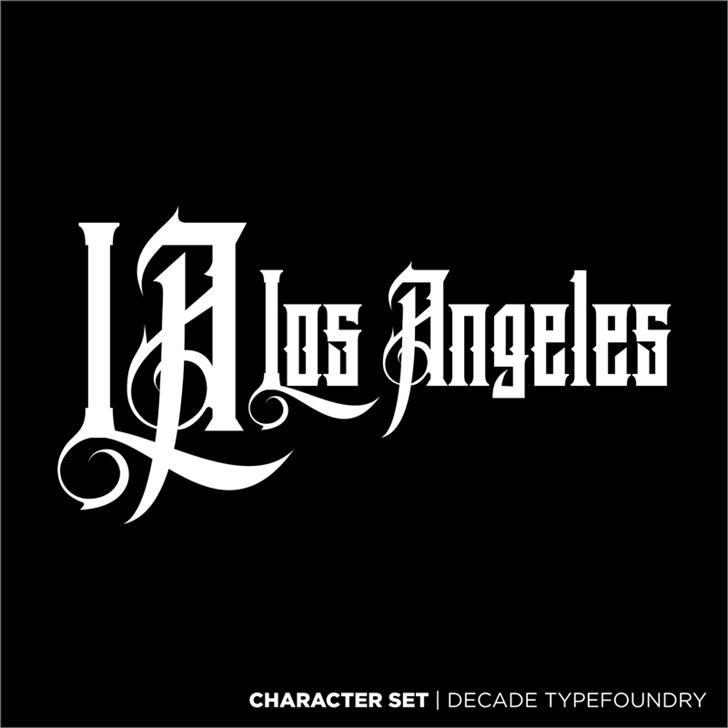 Download Los Angeles font (typeface)