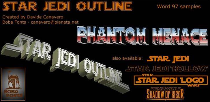Download Star Jedi Outline font (typeface)
